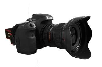 Eine DSLR-Kamera